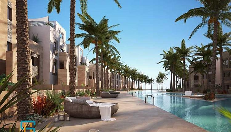 1 bedroom with private beach,El Gouna